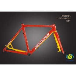 X-B54 VIRA-570 - Rama DOCURA VIRA Cyclo Cross CARBON (3K) 570mm z widelcem