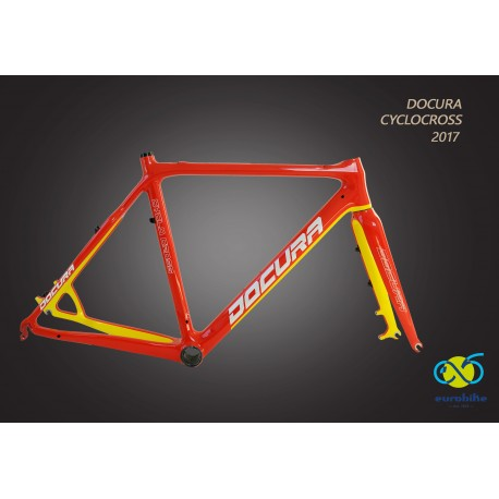 X-B54 VIRA-590 - Rama DOCURA VIRA Cyclo Cross CARBON (3K) 590mm z widelcem