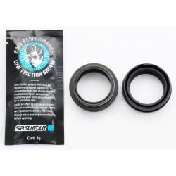 """SF8-EX7-X-LOR-0-L - Amortyzator EPIXON LOR 27,5"""" skok 100mm 1 1/8"""" 25cm AHEAD powietrze, blok. na goleni, reg. odbicia, oś 9mm, dysk, czarny"""