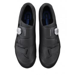 """SF3-NRX-DLO-C-M-D - Amortyzator NRX DLO 28"""" skok 75mm 1 1/8"""" 25cm AHEAD, sprężyna, blok. na goleni, oś 9mm, dysk, czarny mat"""