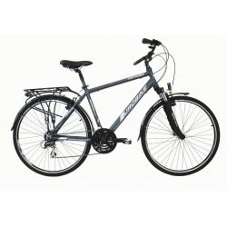 "VOY17 0.2-19 - Rower 28 VOYAGER 0.2 męski,szary/biały mat 19""(48cm)"