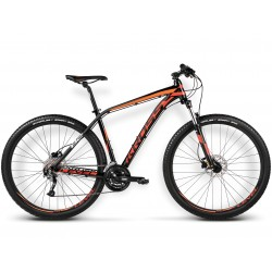 R16KE29173556 - Rower Kross Level B2 S czarny-czerwony-pomarańczowy połysk